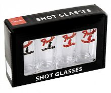 FENDER Banner Headstock Shot Glasses Set of Four набор рюмок (4 шт.)