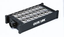 QUIK LOK BOX309 STAGE BOX AUDIO SYSTEM 24X8 NEUTRIK SER